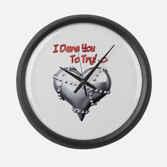 I Dare You To Try! Large Wall Clock
