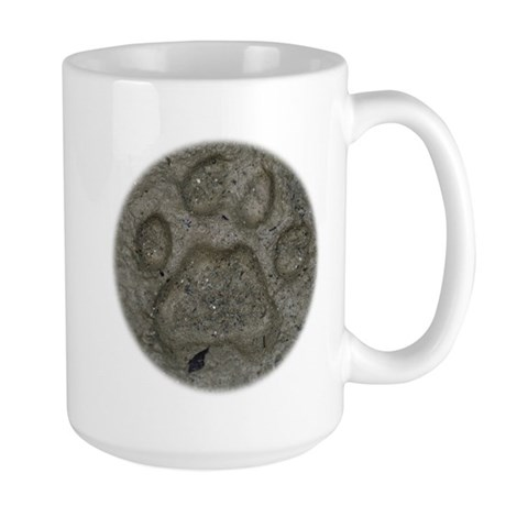 I'd Rather be Tracking Bobcat Large Mug
