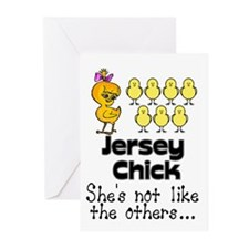 Jersey Chick Greeting Cards (Pk of 20)