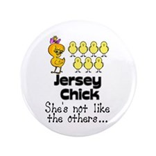 """Jersey Chick 3.5"""" Button"""