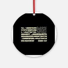 USS Kentucky Round Ornament
