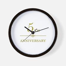 Stylish 5th Anniversary Wall Clock