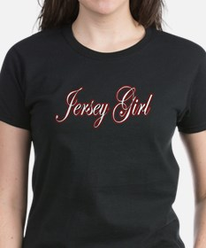 Jersey Girl red white black Tee