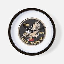 FBI Bomb Technician Wall Clock