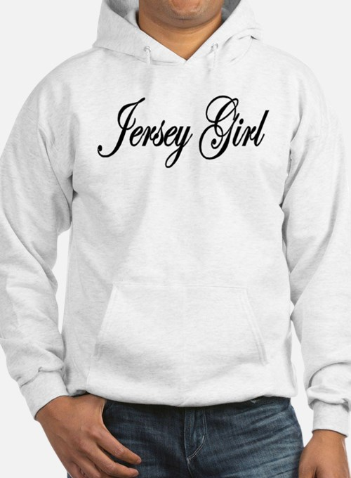 Jersey Girl red white black Hoodie