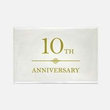 Stylish 10th Anniversary Rectangle Magnet