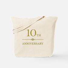 Stylish 10th Anniversary Tote Bag