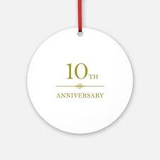 Stylish 10th Anniversary Ornament (Round)