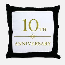 Stylish 10th Anniversary Throw Pillow