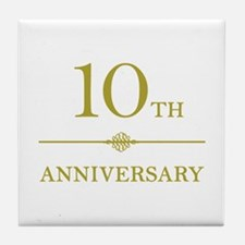 Stylish 10th Anniversary Tile Coaster