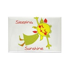 Sleeping Sunshine Rectangle Magnet