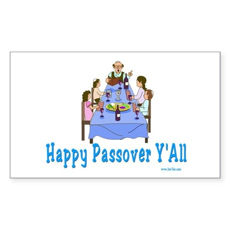 Happy Passover Y'all Sticker (Rectangle 10 pk)