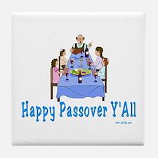 Happy Passover Y'all Tile Coaster
