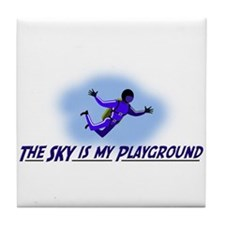 The Sky is My Playground Tile Coaster