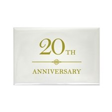 Stylish 20th Anniversary Rectangle Magnet
