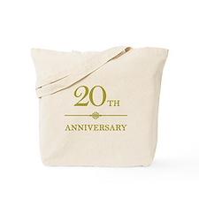 Stylish 20th Anniversary Tote Bag