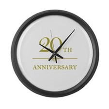 Stylish 20th Anniversary Large Wall Clock