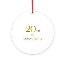 Stylish 20th Anniversary Ornament (Round)