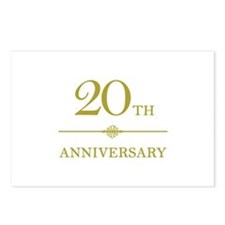 Stylish 20th Anniversary Postcards (Package of 8)