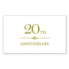 Stylish 20th Anniversary Decal
