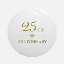 Stylish 25th Anniversary Ornament (Round)