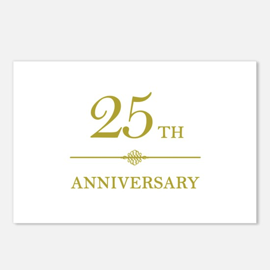 Stylish 25th Anniversary Postcards (Package of 8)
