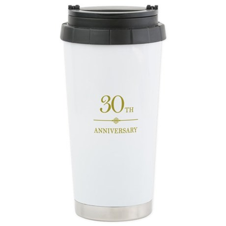 Stylish 30th Anniversary Stainless Steel Travel Mu