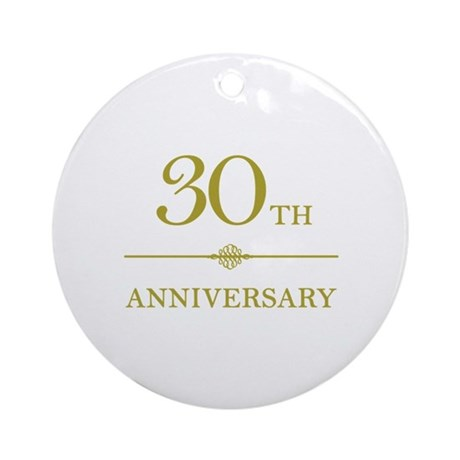 Stylish 30th Anniversary Ornament (Round)