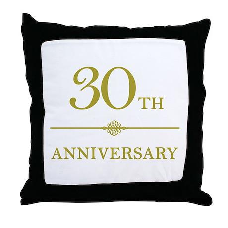 Stylish 30th Anniversary Throw Pillow