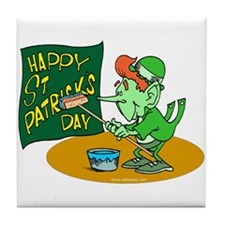 Happy St. Patricks Day Tile Coaster