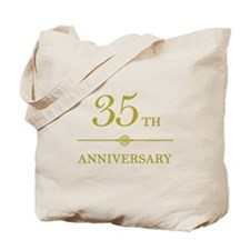 Stylish 35th Anniversary Tote Bag
