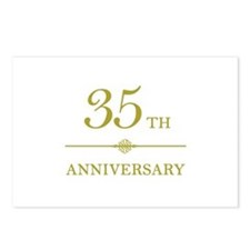 Stylish 35th Anniversary Postcards (Package of 8)