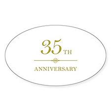 Stylish 35th Anniversary Decal