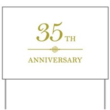 Stylish 35th Anniversary Yard Sign