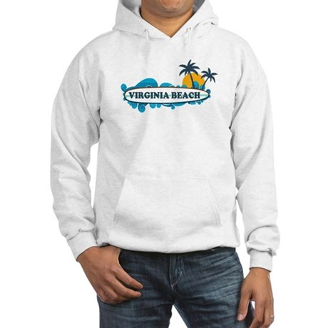 Virginia Beach - Surf Design Hooded Sweatshirt