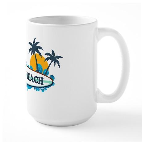 Virginia Beach - Surf Design Large Mug