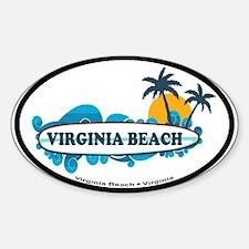 Virginia Beach - Surf Design Sticker (Oval)