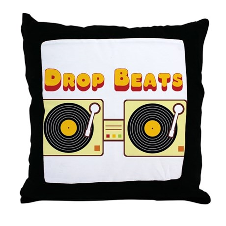 Drop Beats Throw Pillow