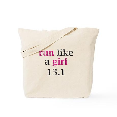 run like a girl 13.1 Tote Bag