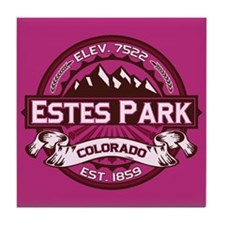 Estes Park Raspberry Tile Coaster