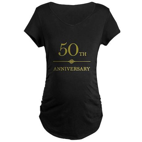 Stylish 50th Anniversary Maternity Dark T-Shirt