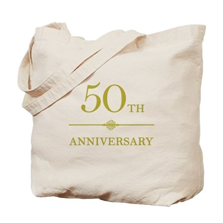 Stylish 50th Anniversary Tote Bag