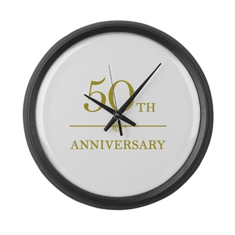 Stylish 50th Anniversary Large Wall Clock