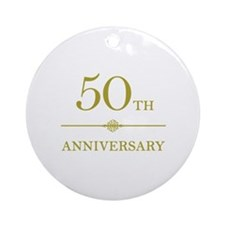Stylish 50th Anniversary Ornament (Round)