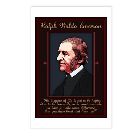 Emerson -Purpose of Life Postcards (Package of 8)