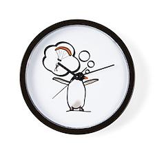 Soaring Penguin Dreams Wall Clock