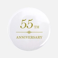 "Stylish 55th Anniversary 3.5"" Button"