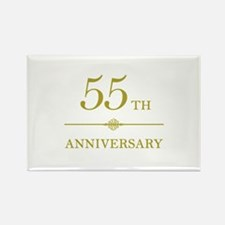 Stylish 55th Anniversary Rectangle Magnet (10 pack