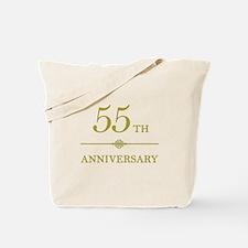 Stylish 55th Anniversary Tote Bag