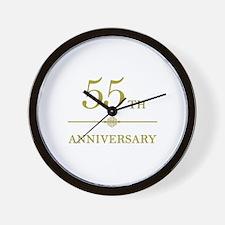 Stylish 55th Anniversary Wall Clock